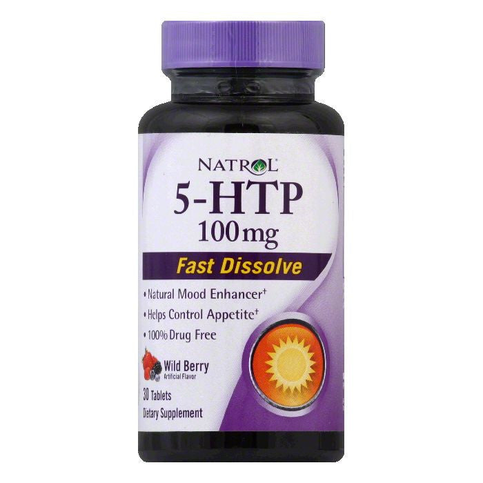 Natrol Wild Berry Tablets 100 mg 5-HTP, 30 ea