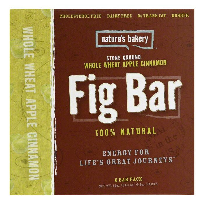 Natures Bakery Whole Wheat Apple Cinnamon Fig Bar, 12 Oz (Pack of 12)