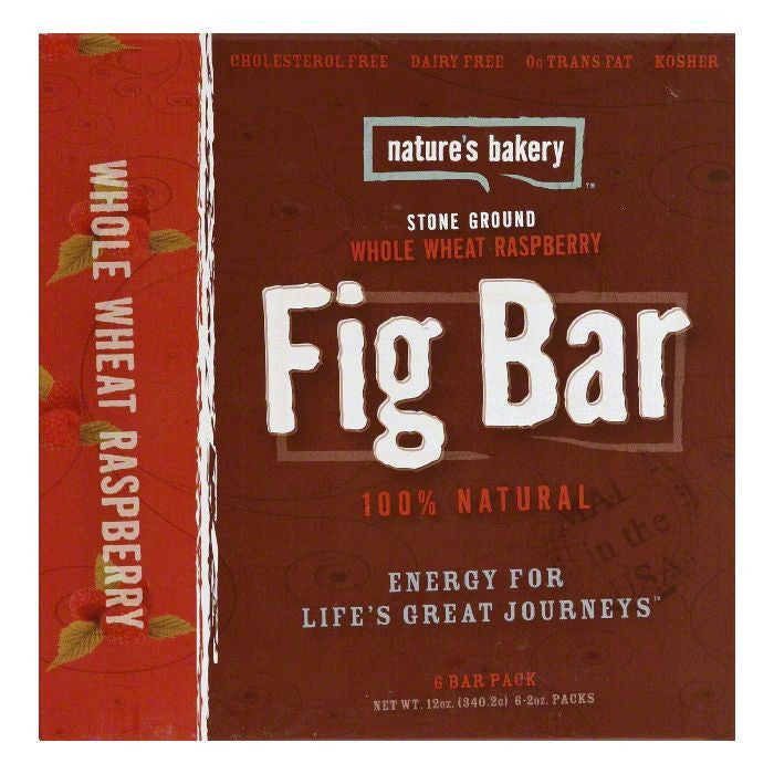 Natures Bakery Whole Wheat Raspberry Fig Bar, 12 Oz (Pack of 12)