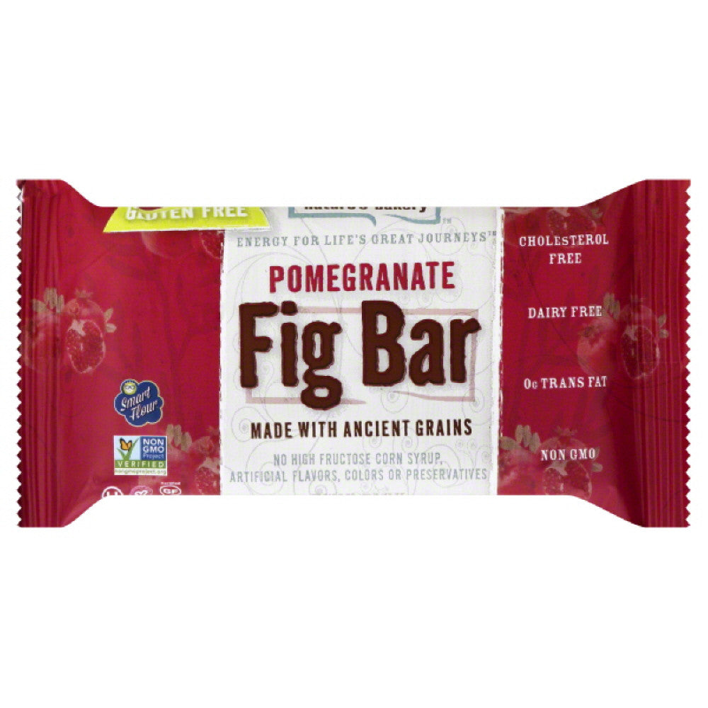Natures Bakery Pomegranate Fig Bar, 2 Oz (Pack of 12)