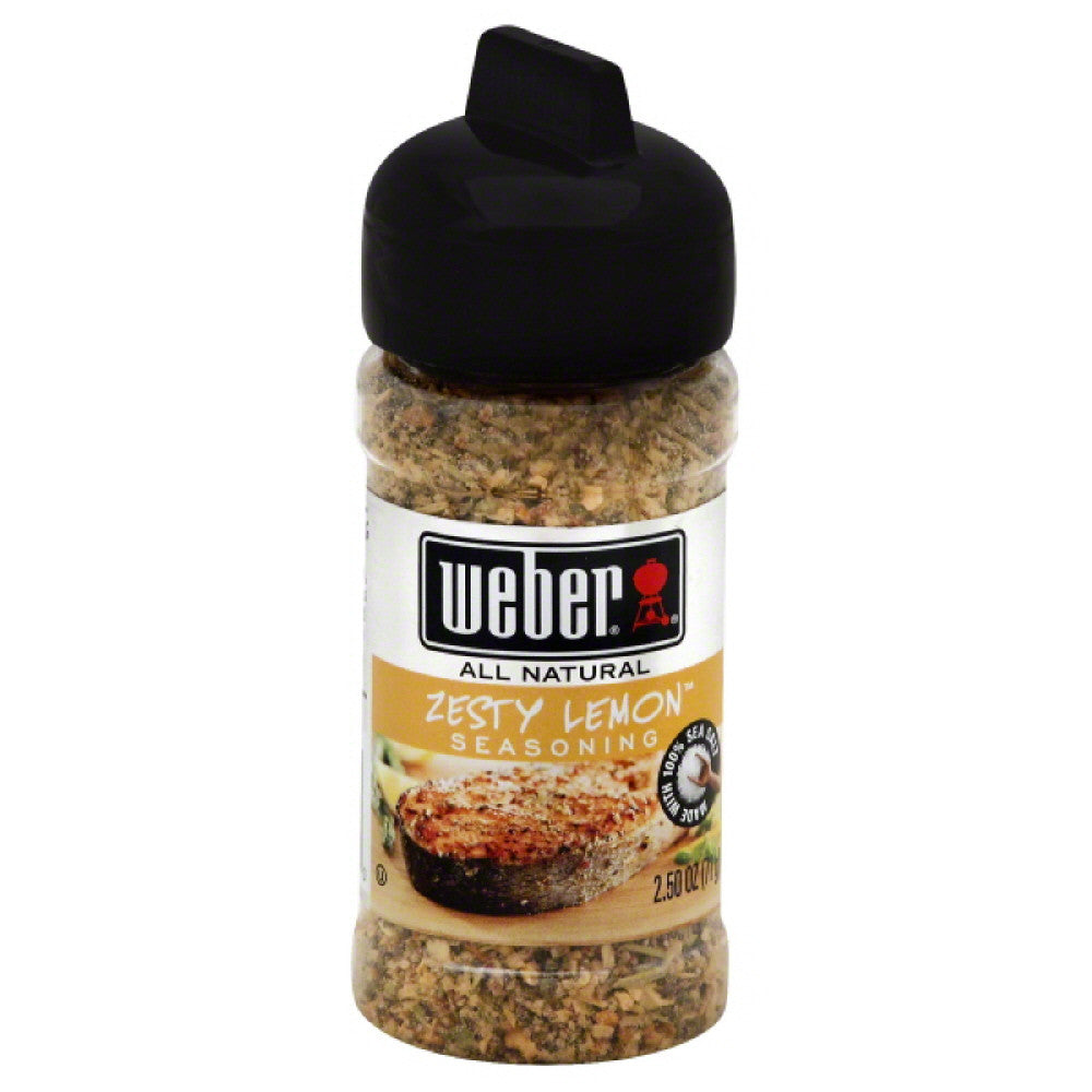 Weber Seasoning Zesty Lemon, 2.5 Oz (Pack of 6)