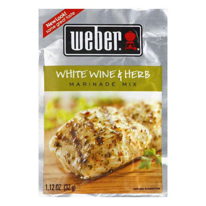 Weber Grill Marinade White Wine & Herb, 1.12 OZ (Pack of 12)