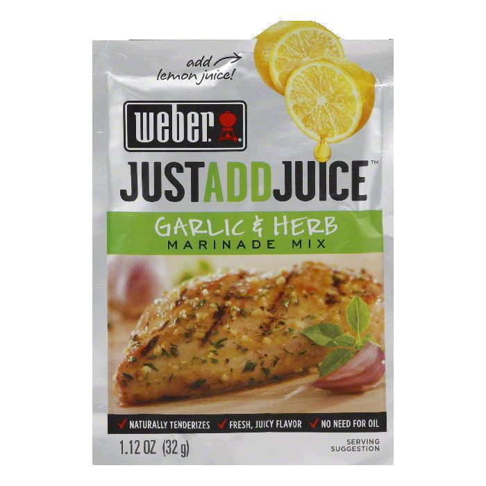 "Weber Grill ""Just Add Juice"" Garlic & Herb Marinade, 1.12 OZ (Pack of 12)"