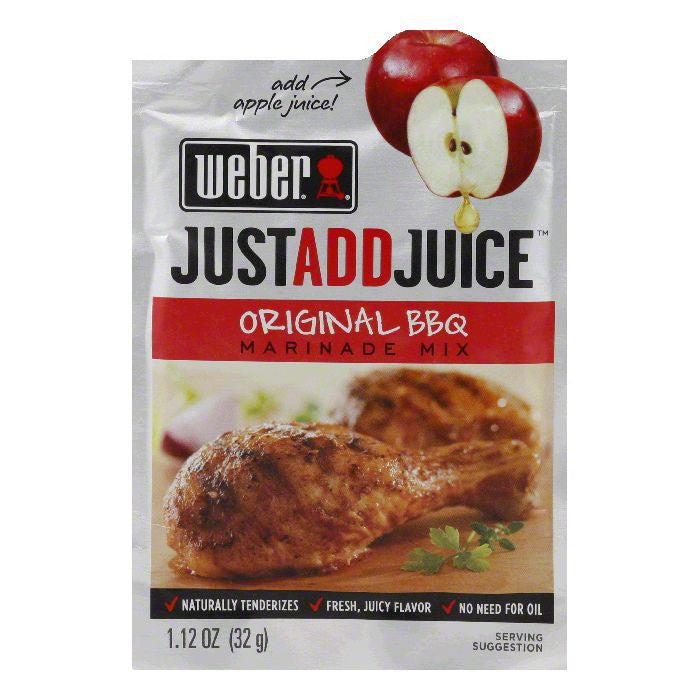 "Weber Grill Marinade ""Just Add Juice"" Original BBQ, 1.12 OZ (Pack of 12)"