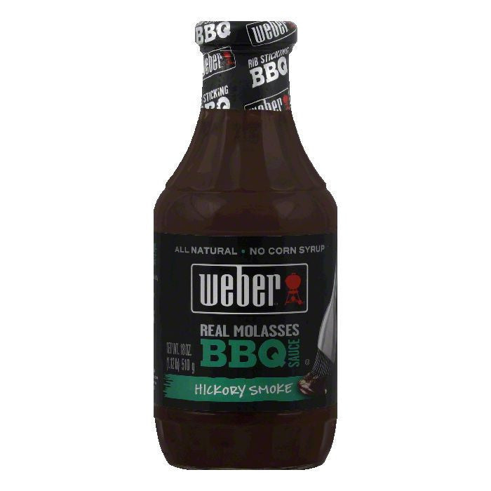 Weber Grill Hickory BBQ Sauce, 18 OZ (Pack of 6)