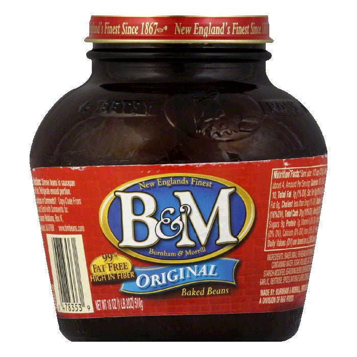 B&M Beans Baked, 18 OZ (Pack of 12)