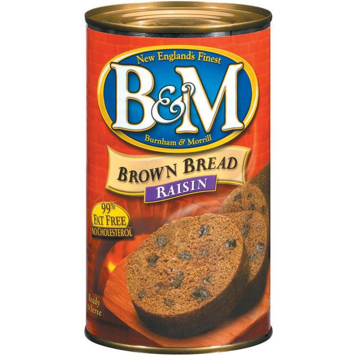 B&M Raisin Brown Bread 16 Oz  (Pack of 12)