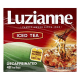 Luzianne Tea Bags Decaffeinated Iced Tea, 48 ea (Pack of 6)