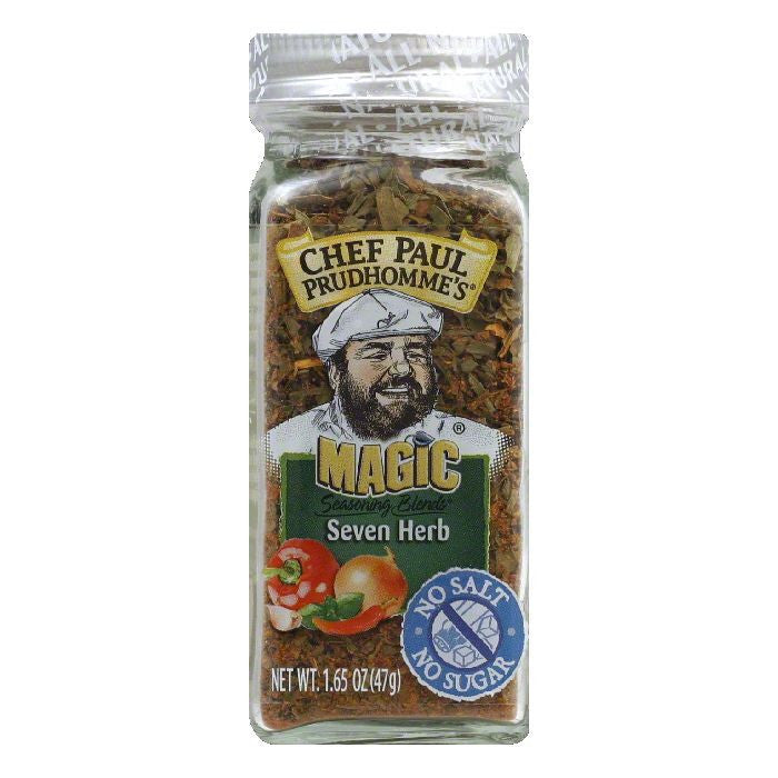 Magic Seasoning Blends Salt Free Sugar Free 7 Herbs Seasoning, 1.65 OZ (Pack of 6)
