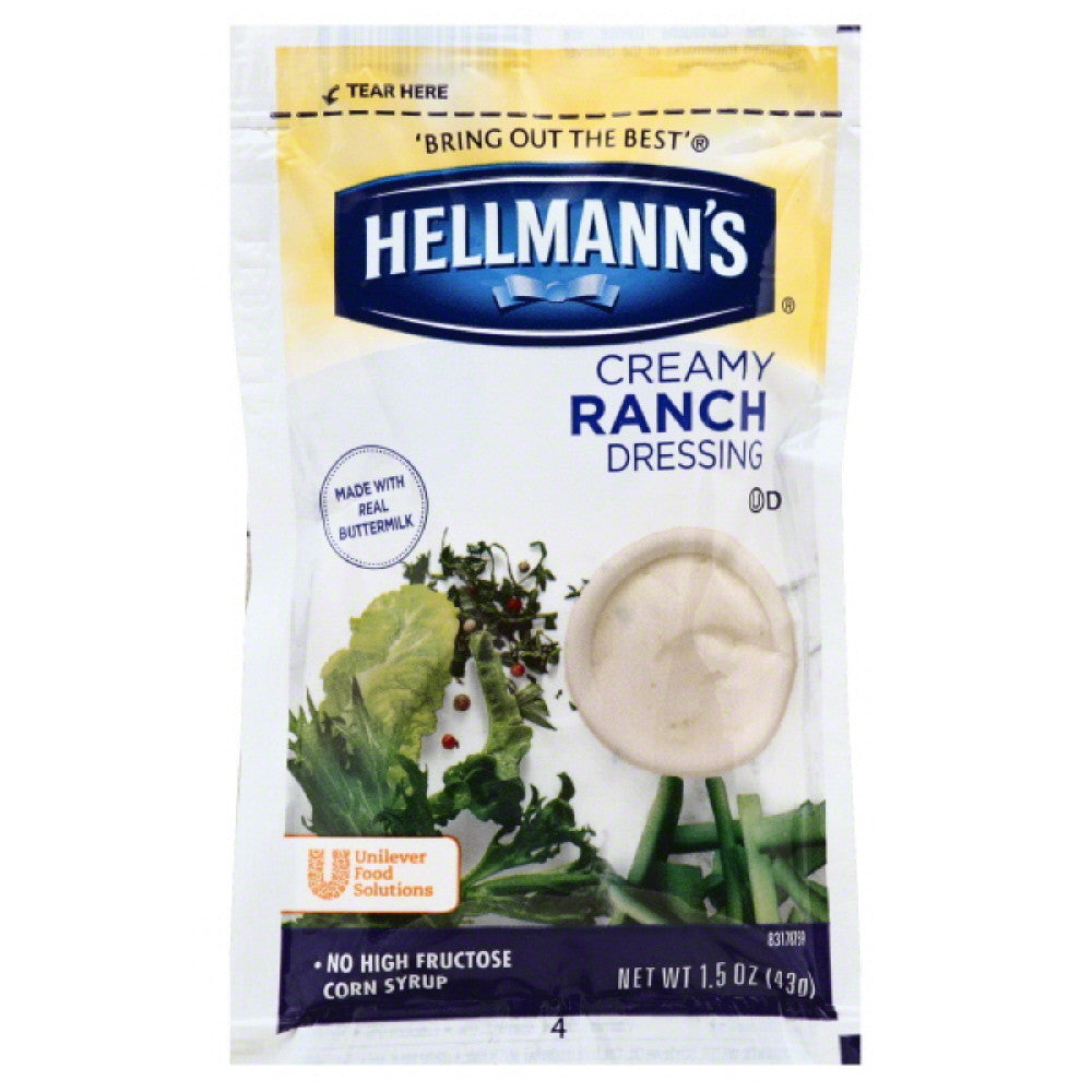 Hellmanns Creamy Ranch Dressing, 102 Pc