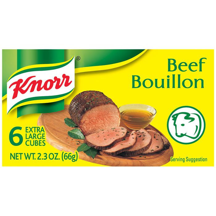 Knorr Beef Extra Large Bouillon Cubes 2.3 Oz  (Pack of 24)