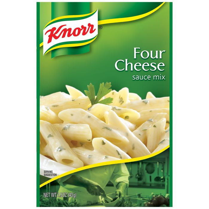 Knorr Four Cheese Sauce Mix 1.5 Oz Packet (Pack of 24)