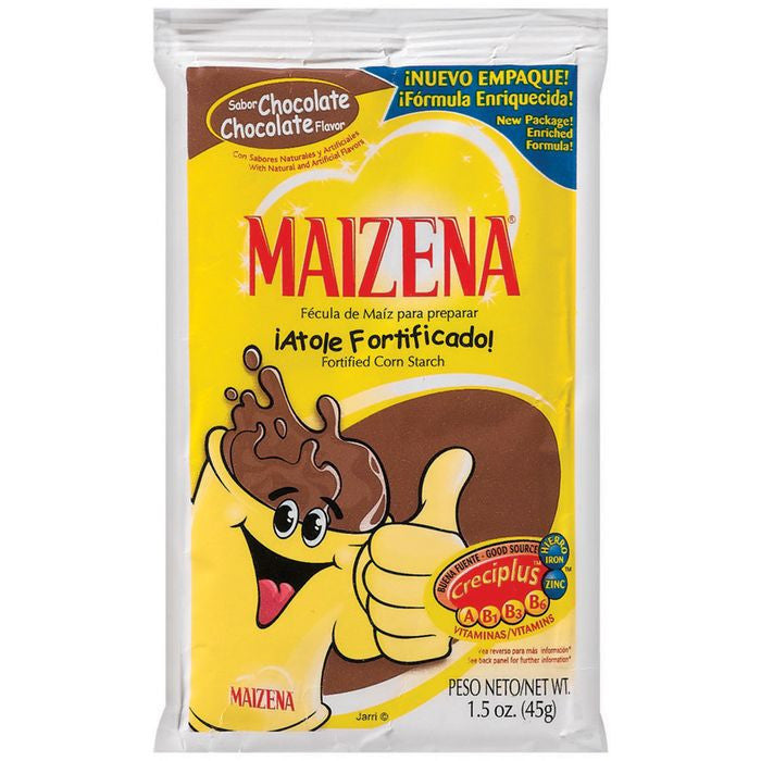 Maizena Chocolate Fortified Corn Starch 1.5 Oz Packet (Pack of 24)