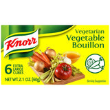 Knorr Vegetarian Vegetable Extra Large Bouillon Cubes 2.1 Oz  (Pack of 24)