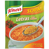 Knorr Tomato Based Alphabet Pasta Soup 3.5 Oz Packet (Pack of 12)
