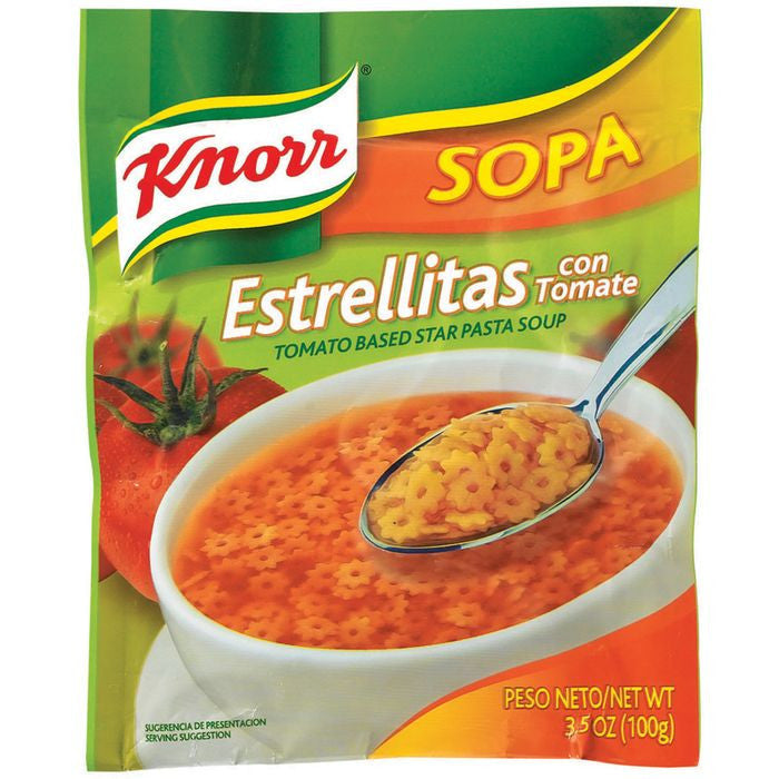 Knorr Tomato Based Star Pasta Soup 3.5 Oz Packet (Pack of 12)