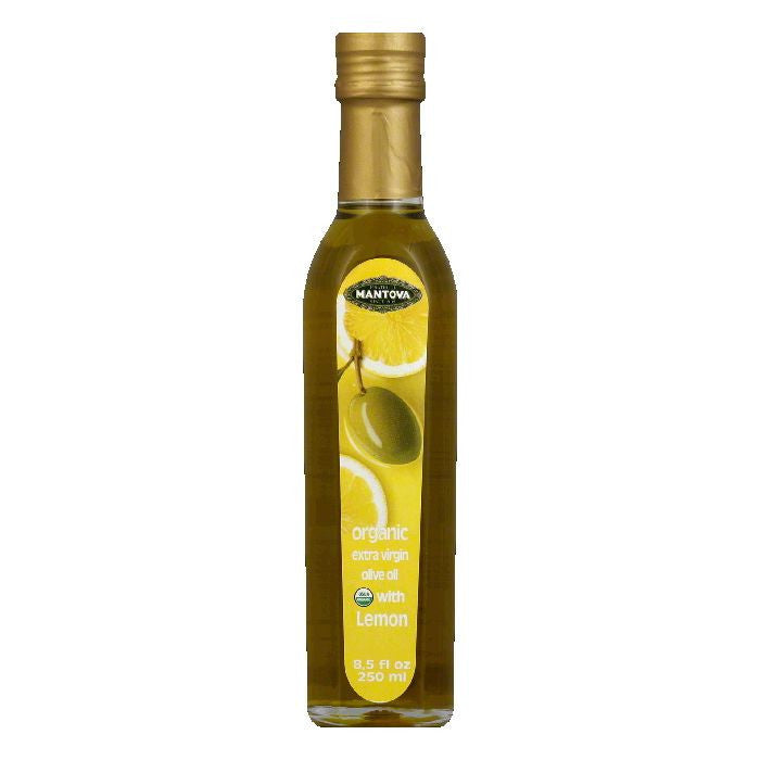 Fratelli Mantova Organic Lemon Extra Virgin Olive Oil, 8.5 FO (Pack of 6)