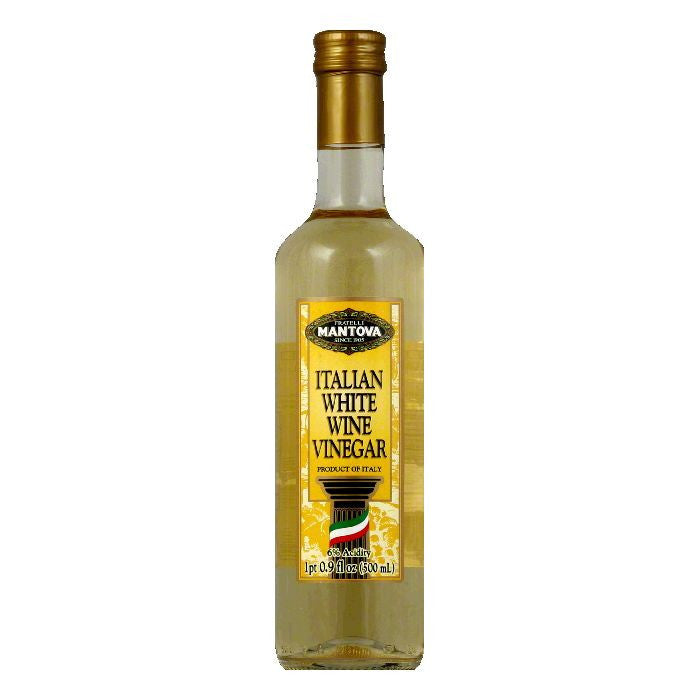 Mantova Italian White Wine Vinegar, 17 Oz (Pack of 6)