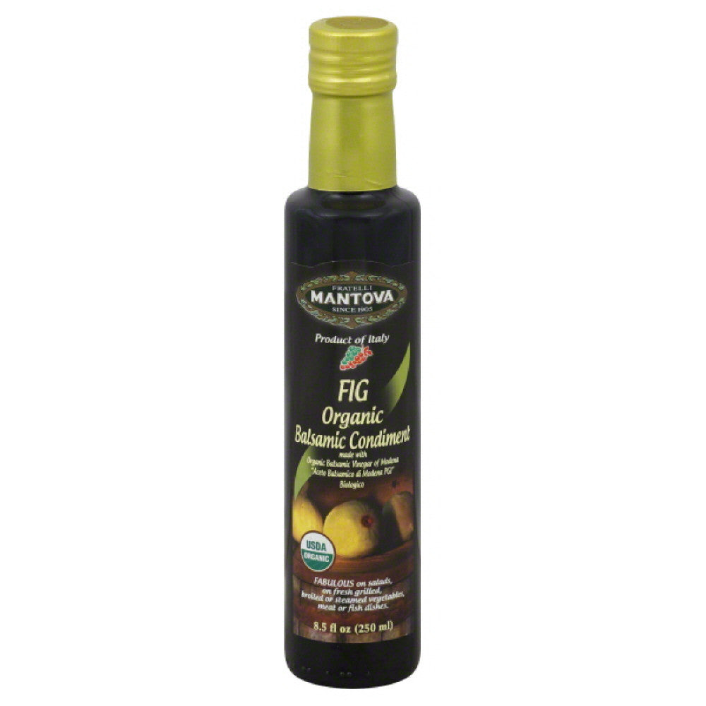 Mantova Fig Organic Balsamic Condiment, 8.5 Fo (Pack of 6)