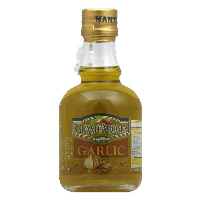 Grand Aroma Garlic Extra Virgin Olive Oil, 8.5 FO (Pack of 6)