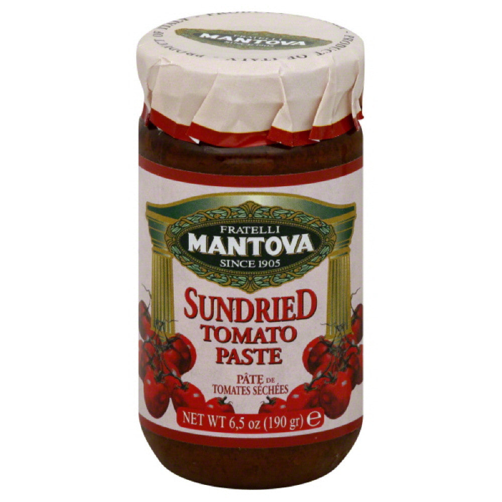 Mantova Sundried Tomato Paste, 6.5 Oz  ( Pack of  6)