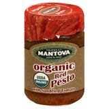 Mantova Organic Red Pesto with Sundried Tomato, 4.6 Oz (Pack of 12)