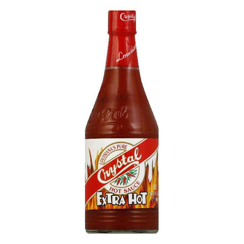 Crystal Hot Sauce Extra Hot, 6 OZ (Pack of 12)