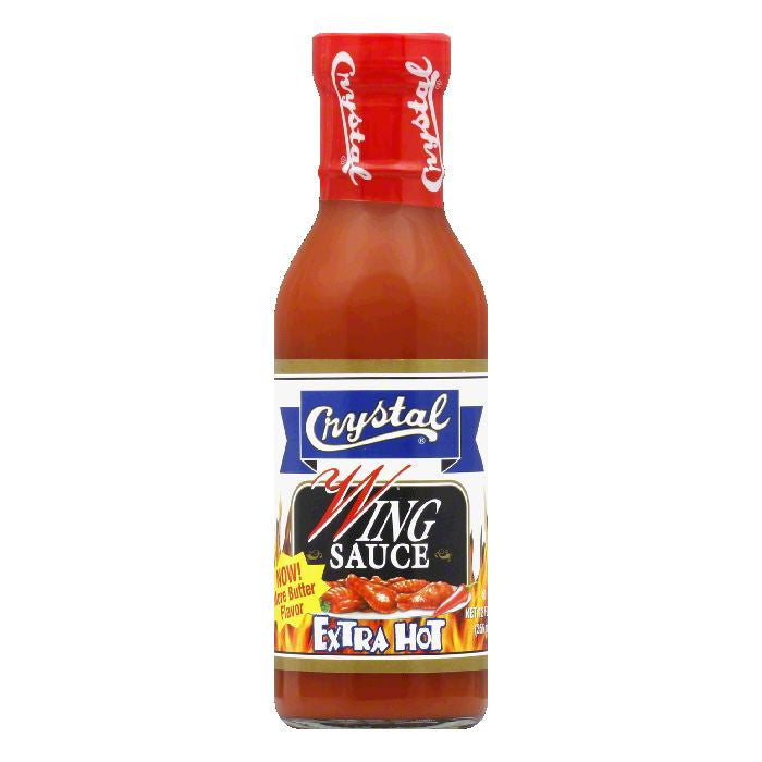 Crystal Wing Sauce Hot, 12 OZ (Pack of 12)