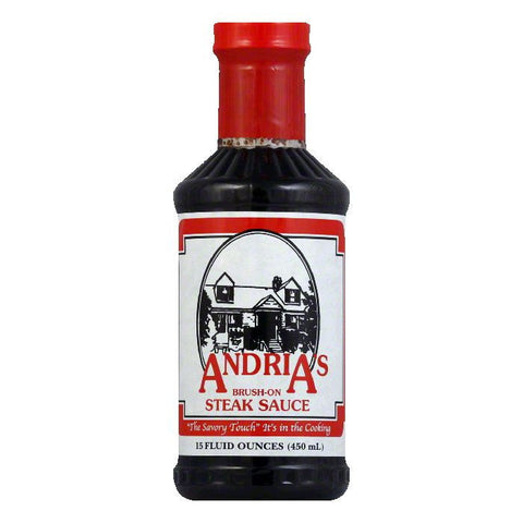 Andrias Brush on Steak Sauce, 15 OZ (Pack of 12)