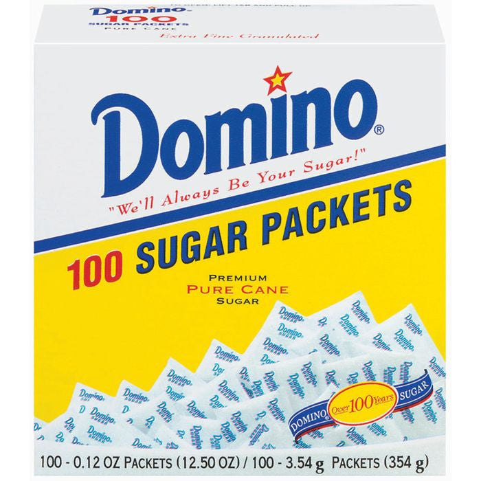 Domino Pure e 0.12 Oz Packets Sugar 100 Ct  (Pack of 12)