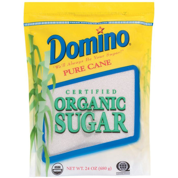 Domino Pure e Certified Organic Sugar 24 Oz Pouch (Pack of 12)