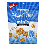 Pretzel Crisps Original Crunchy Thin Pretzel Crackers, 6.2 OZ (Pack of 12)