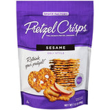 Pretzel Crisps Sesame Deli Style Pretzel Crackers 7.2 Oz Bag (Pack of 12)