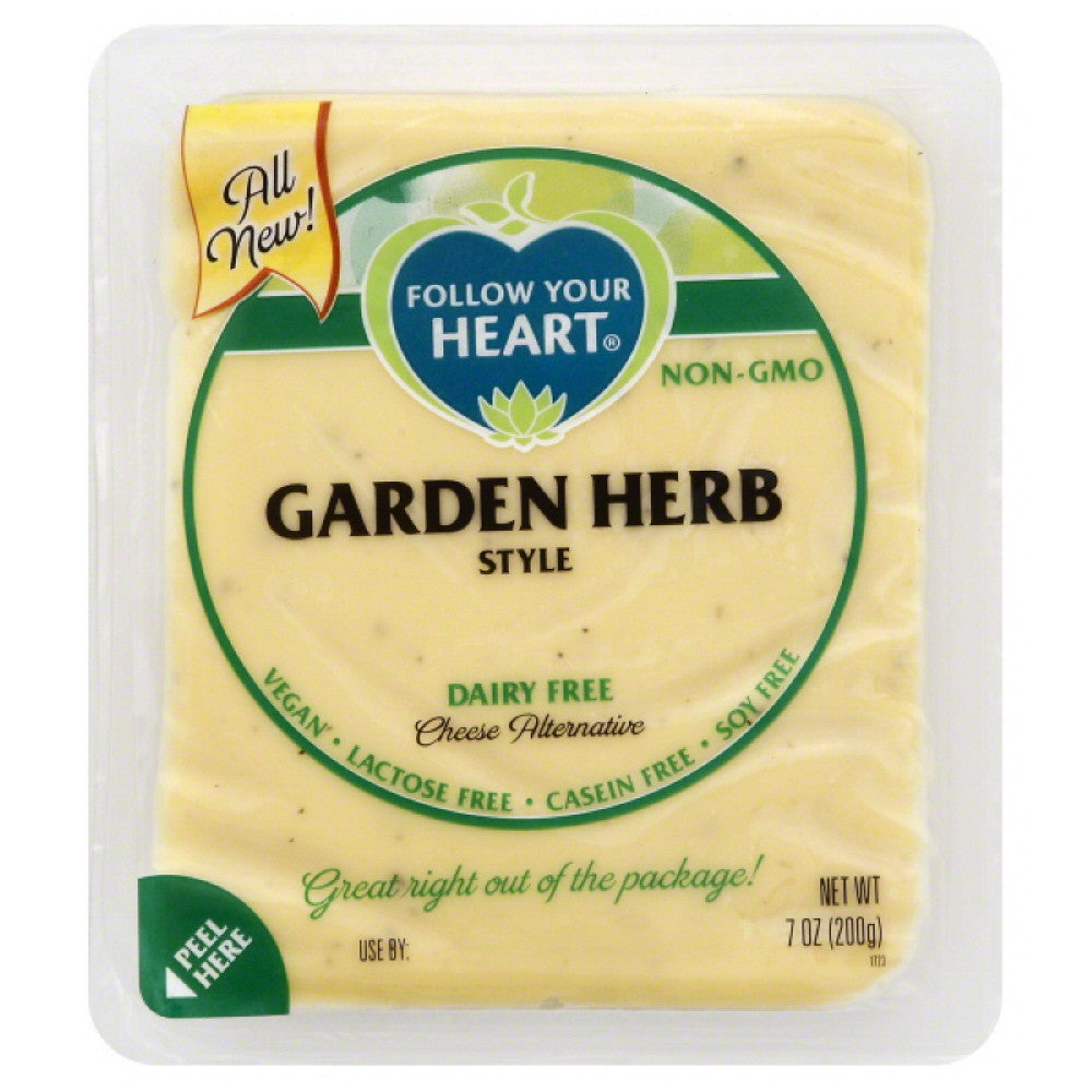 Follow Your Heart Garden Herb Style Dairy Free Cheese Alternative, 7 Oz (Pack of 13)