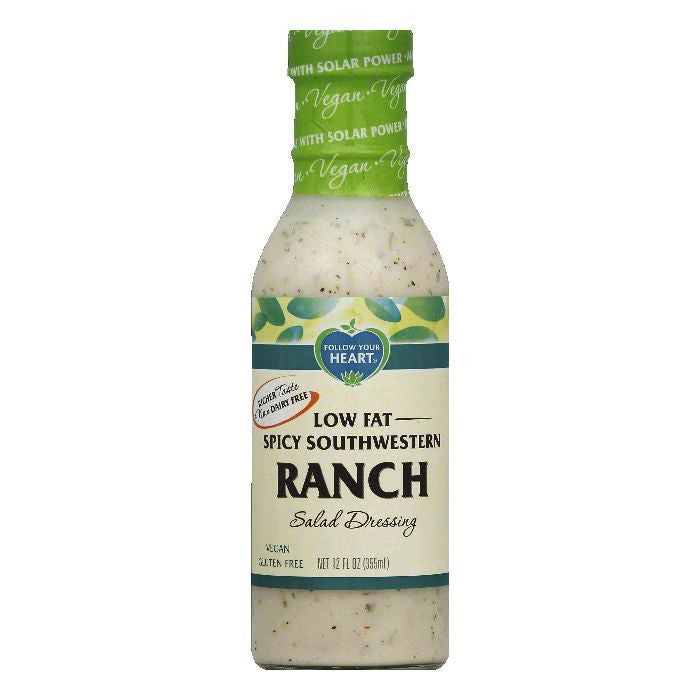Follow Your Heart Low Fat Spicy Southwestern Ranch Salad Dressing, 12 OZ (Pack of 6)