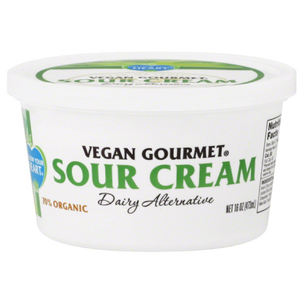 Follow Your Heart Dairy Alternative Sour Cream, 16 Oz (Pack of 4)