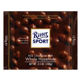 Ritter Sport Chocolate Bar Milk Hazelnut, 3.5 OZ (Pack of 10)