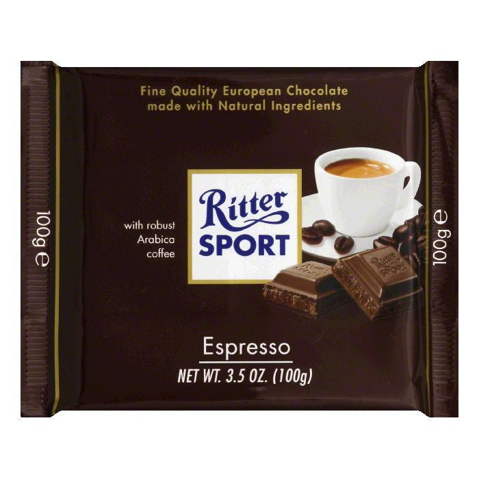 Ritter Sport Milk Chocolate Espresso Cream, 3.5 OZ (Pack of 12)