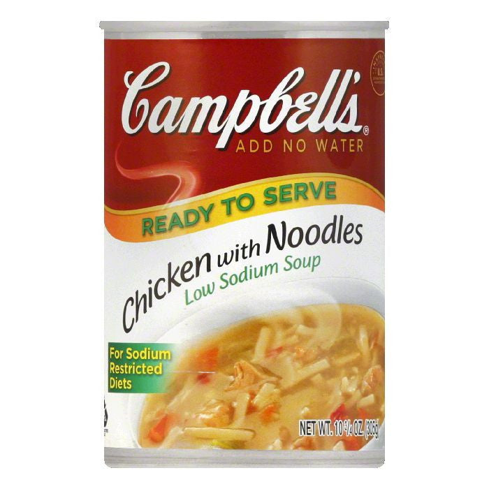 Campbells Low Salt Chicken With Noodles Condensed Soup, 10.75 OZ (Pack of 12)
