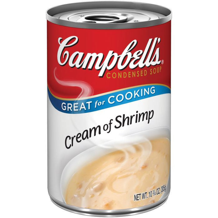 Campbell's Cream of Shrimp R&W Condensed Soup 10.75 Oz Pull-Top  (Pack of 12)