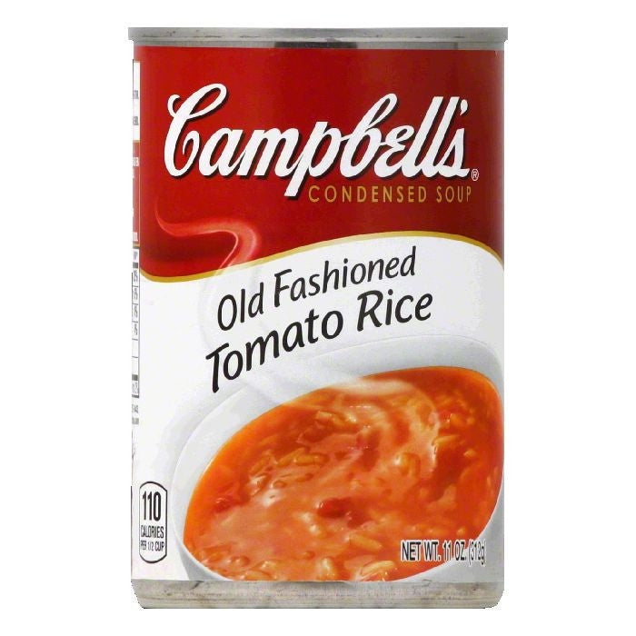 Campbells Old Fashioned Tomato With Rice Condensed Soup, 11 OZ (Pack of 12)
