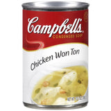 Campbell's Chicken Won Ton Condensed Soup 10.5 Oz Pull-Top  (Pack of 12)