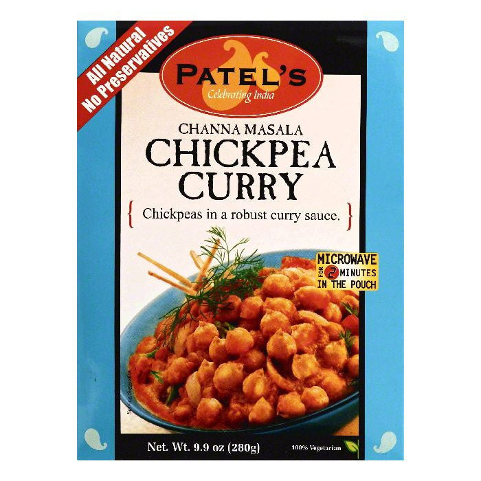 Patels Channa Masala Chickpea Curry, 9.9 OZ (Pack of 10)