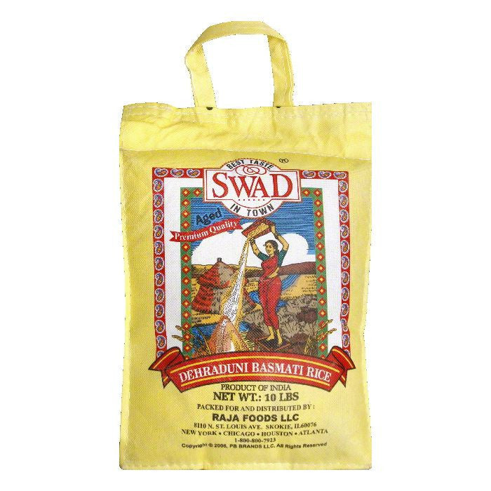 Swad Rice Basmati, 10 LB (Pack of 4)