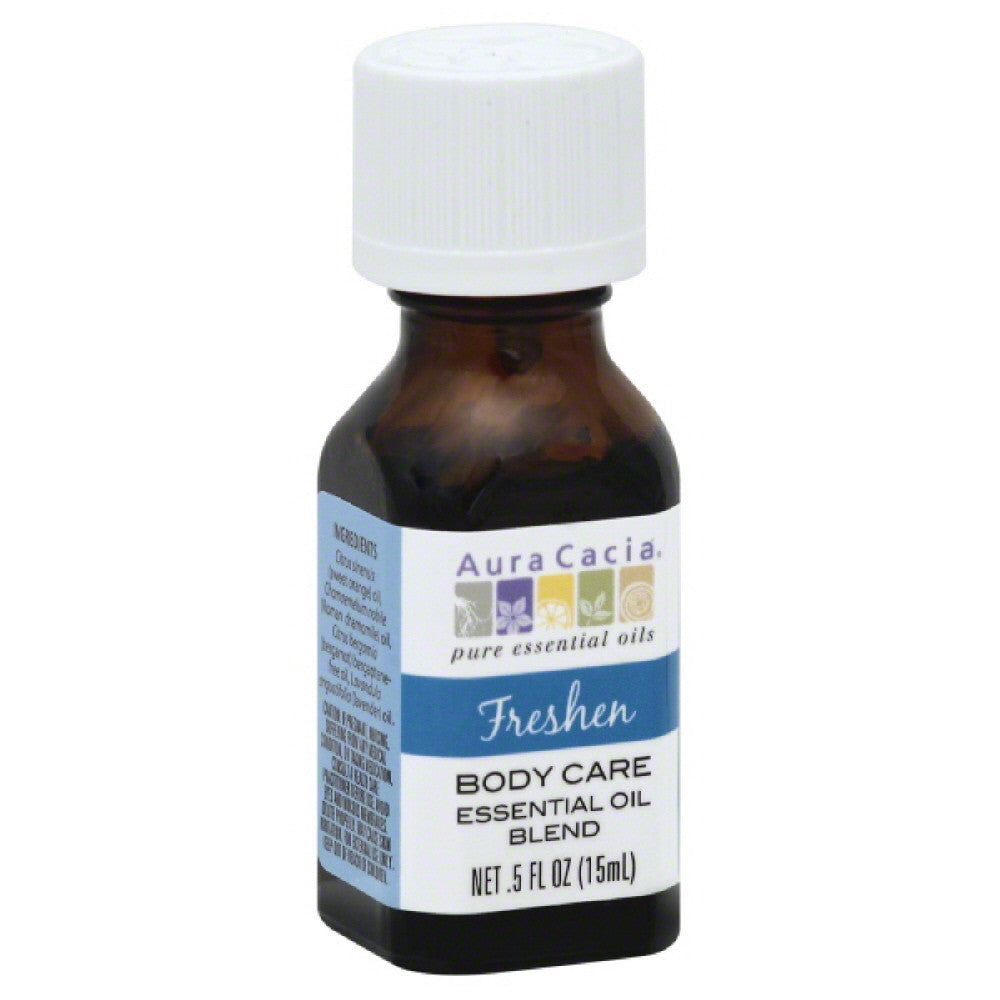Aura Cacia Freshen Body Care Essential Oil Blend, 0.5 Oz
