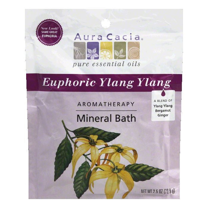 Aura Cacia Mineral Bath Euphoria, 2.5 OZ (Pack of 6)