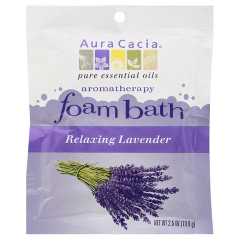 Aura Cacia Relaxing Lavender Aromatherapy Foam Bath, 2.5 Oz (Pack of 6)