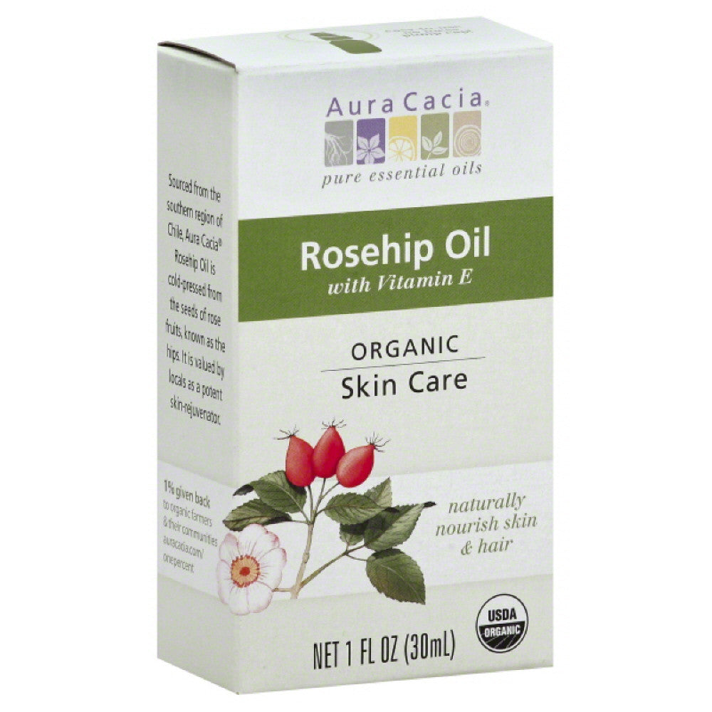 Aura Cacia Organic with Vitamin E Rosehip Oil, 1 Oz