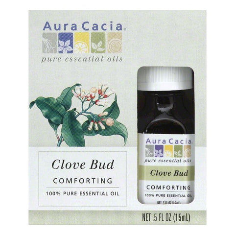 Aura Cacia Comforting Clove Bud 100% Pure Essential Oil, 0.5 Oz