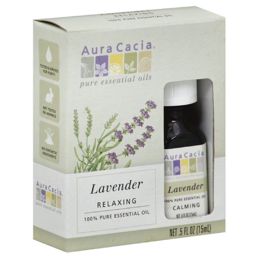Aura Cacia Relaxing Lavender 100% Pure Essential Oil, 0.5 Oz